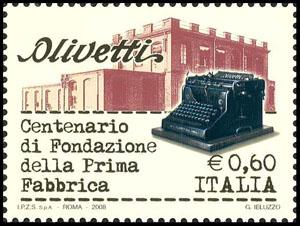 olivetti francobollo 2008