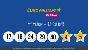 Tirage Euromillions - My Million : Résultat du 1er juin 2018 en vidéo