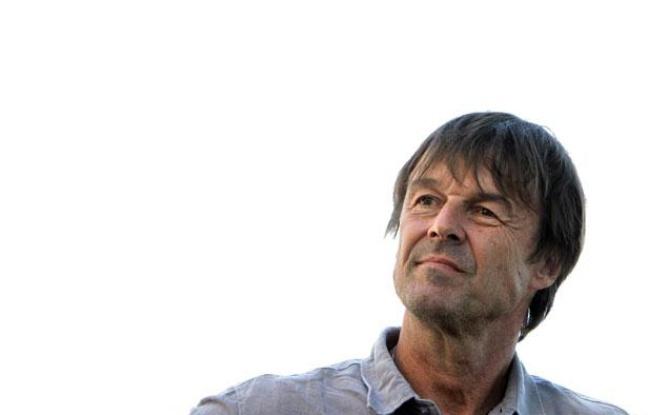 Nicolas Hulot, lors d'un déplacement à Fervaches, le 4 juillet 2011.