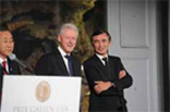 Bill Clinton and Philippe Douste-Blazy