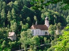 """L'église baroque - """"Wallfahrtskirche Maria in der Tanne""""Schwarzwaldmuseum"""