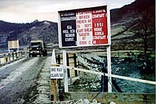 Bridge built by the 2nd U.S. Infantry Division and named GOUPIL Bridge in memory of Captain Robert Goupil killed in Heartbreak.