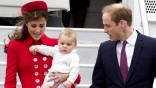 Prince William, Kate show off royal baby on arrival in Wellington