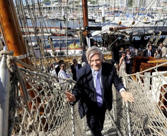 Boulogne-sur-Mer (Pas-de-Calais), vendredi. Pierre de Saintignon sillonne les cinq départements de la future nouvelle région depuis presque un an.