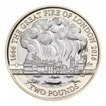 The 350th Anniversary of The Great Fire of London 2016 UK _2 Brilliant Uncirculated Coin uku15856 reverse
