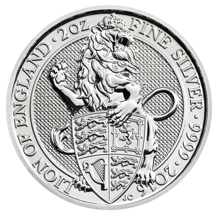 queen's beasts lion of england silver bullion coin