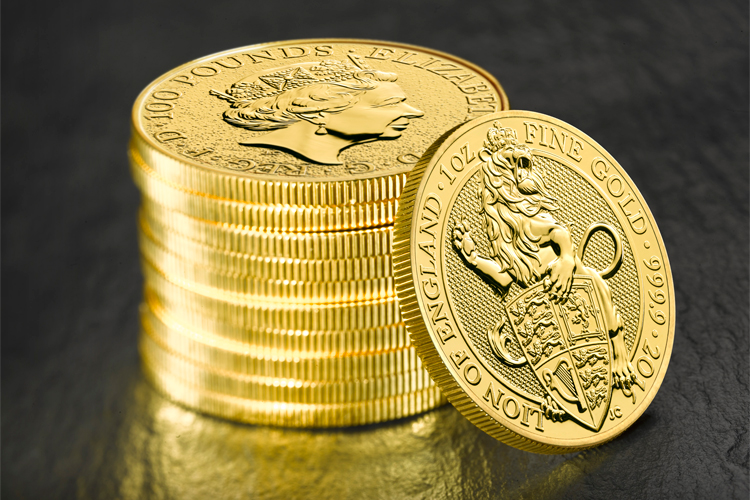 queen's beasts lion of england gold bullion coins