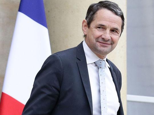 Thierry Mandon à la sortie du conseil des ministres le 03 mai 2017