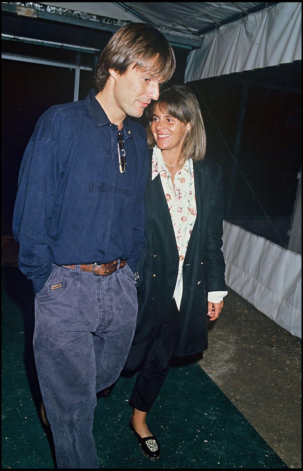 Nicolas Hulot et sa femme Dominique Cantien le 28 juin 1990