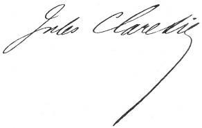 Signature de Jules Claretie