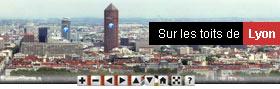 Balade virtuelle sur les toits de Lyon