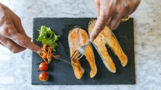 The fatty acids found in oily fish help to reduce inflammation, high levels of which are often found in people with major depression