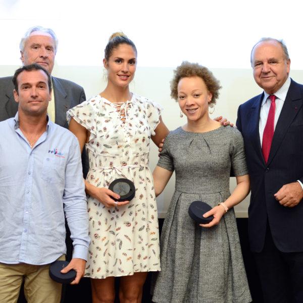 Les médaillés, avec Christian Chatillon et Philippe Carle