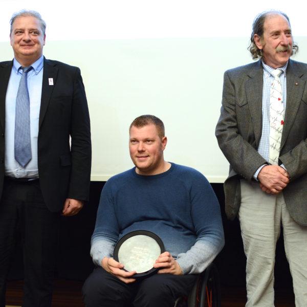 Fabien Lamirault, entouré de Patrick Geoffray et Patrick Schamasch