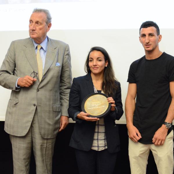 Sarah Ourahmoune, avec Sofiane Oumiha et Gérard de Waldner