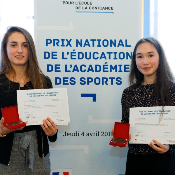 Remise, par le ministre Jean-Michel BLANQUER, du prix national de l'éducation de l'académie des sports, au Ministère de l'Education nationale et de la Jeunesse, le jeudi 4 avril 2019 - ©Philippe DEVERNAY.