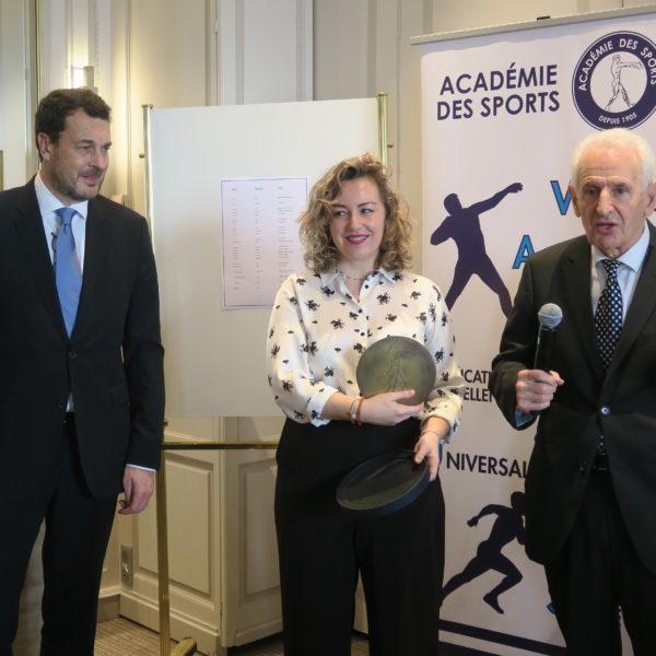 Chrystelle BONNET, Prix Sport & Culture, avec Laurent-Eric LE LAY et Jean DURRY
