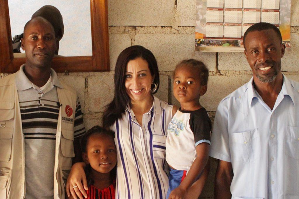 Faïza et Wangcos à la rencontre des bénéficiaires