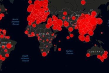 Confira mapa atualizado em tempo real | Foto: Jonhs Hopkins University