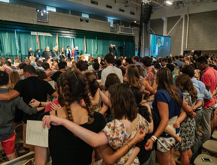 """Dartmouth Welcomes the Class of 2022.   """"Each of you is impressive, talented, each of you earned your seat in this historic College,"""" Admissions Dean Lee Coffin tells Dartmouth's 1,171 first-year students."""