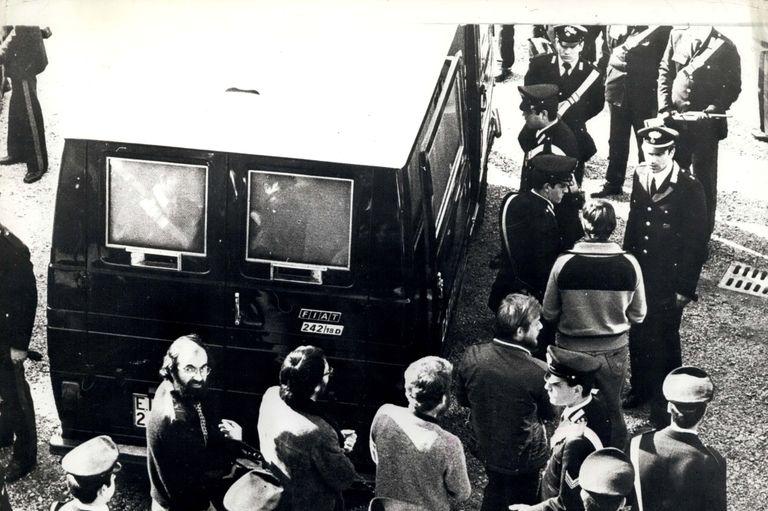 Lors du procès des Brigades Rouges, en mars 1978.