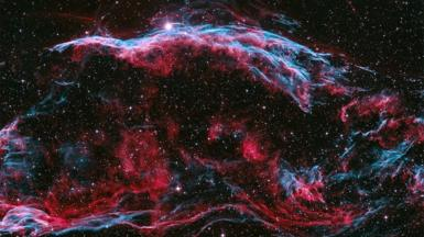 An image showing the remnant of a giant supernova explosion