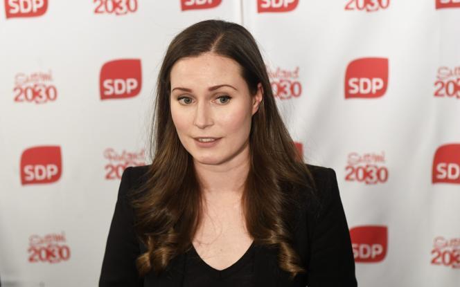 Sanna Marin après son élection au poste de premier ministre à Helsinki, en Finlande, le 8 décembre 2019.