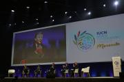 Lors du congrès mondial de l'Union internationale pour la conservation de la nature, à Marseille, le 3septembre.