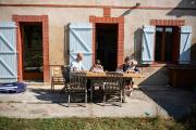 Ecole à domicile à Gardouch (Haute-Garonne), le 6 septembre 2021.