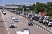 Tronçon de l'autoroute A7 entre Lyon et Vienne, en juillet 2021.