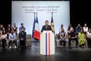 Le président Emmanuel Macron en visite à Noumea, en Nouvelle-Calédonie, le 5 mai 2018.