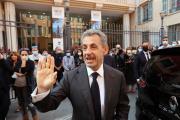 L'ancien président français Nicolas Sarkozy à Nice (Alpes-Maritimes), le 15 octobre 2021.