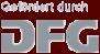Logo: Gefördert durch DFG