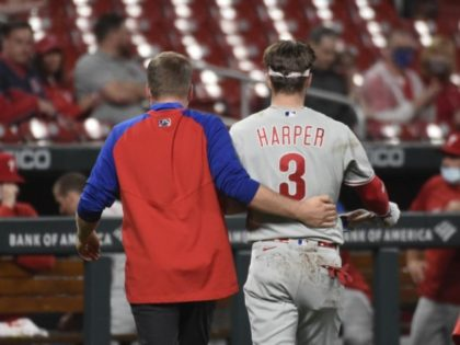 WATCH: Phillies' Bryce Harper Hit by Pitch in Face, 'Feels Good'