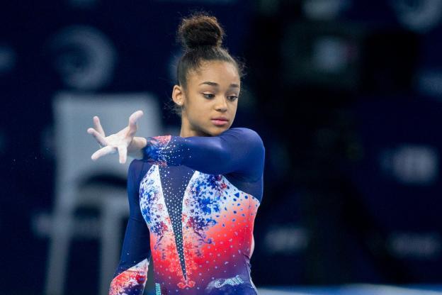 Gymnastique artistique - Championnats d'europe - Mélanie De Jésus Dos Santos a été sacrée championne d'Europe vendredi. ( Tomasz Jastrzebowski/Presse Sports)
