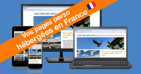 pages perso compatible PC, tablettes et mobiles