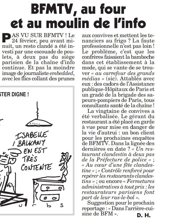 Distanciation sociale : BFM TV fait la leçon aux Français mais dîne clandestinement au resto