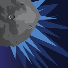 Name That Asteroid! Thumbnail asteroid upper left