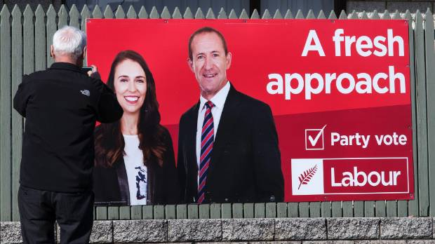 A fresh approach turns stale: a Labour poster from the distant past when Little was still leader.