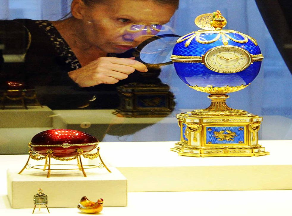 Hard shell: eggs at the Fabergé Museum