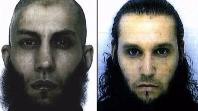 Macreme Abrougui (à gauche) faisait partie d'une filière djihadiste à laquelle appartenaient plusieurs garagistes franciliens dont Adrien Guihal (au milieu) et Thomas Mayet (à droite).