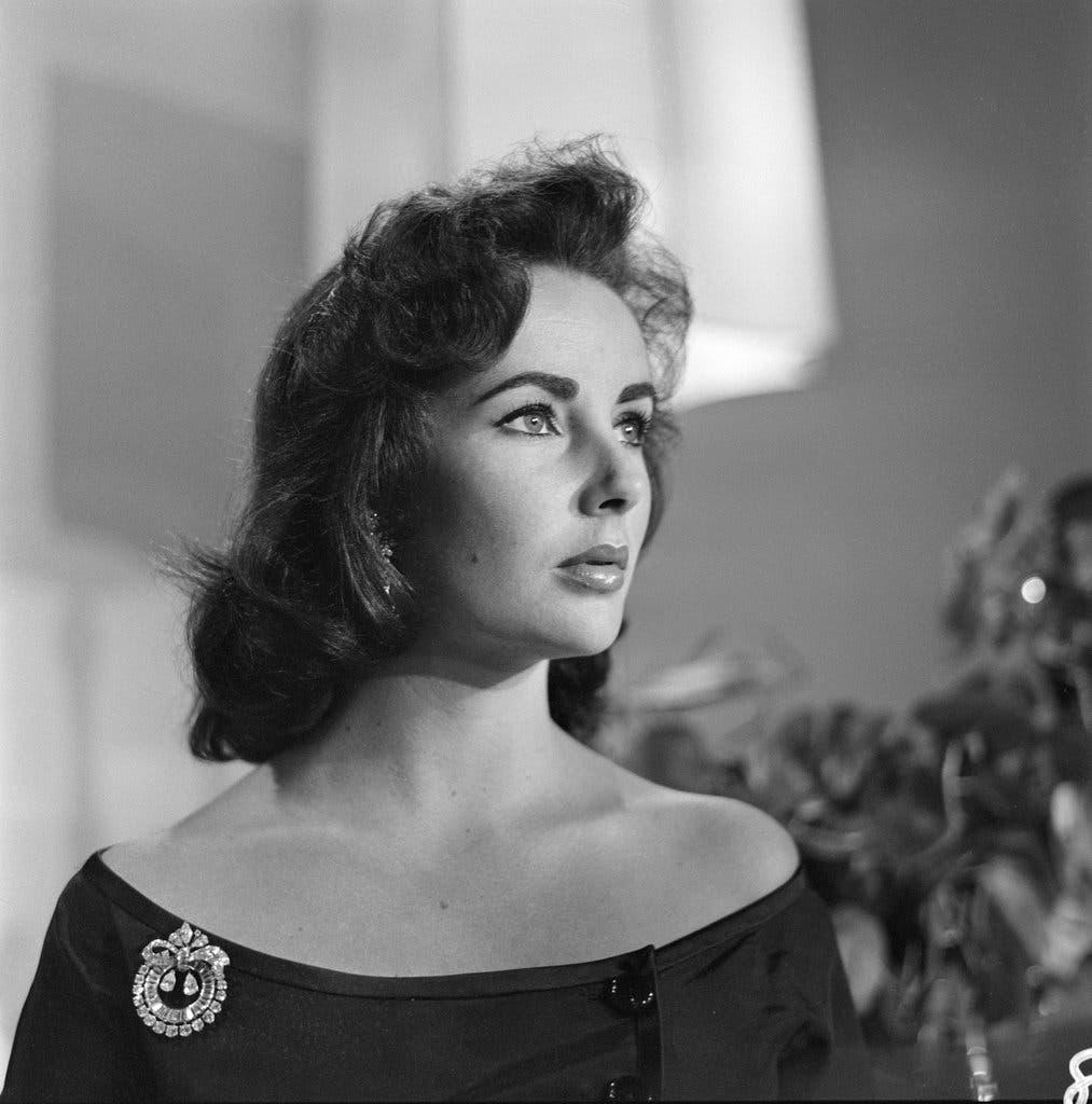 Elizabeth Taylor in 1957.