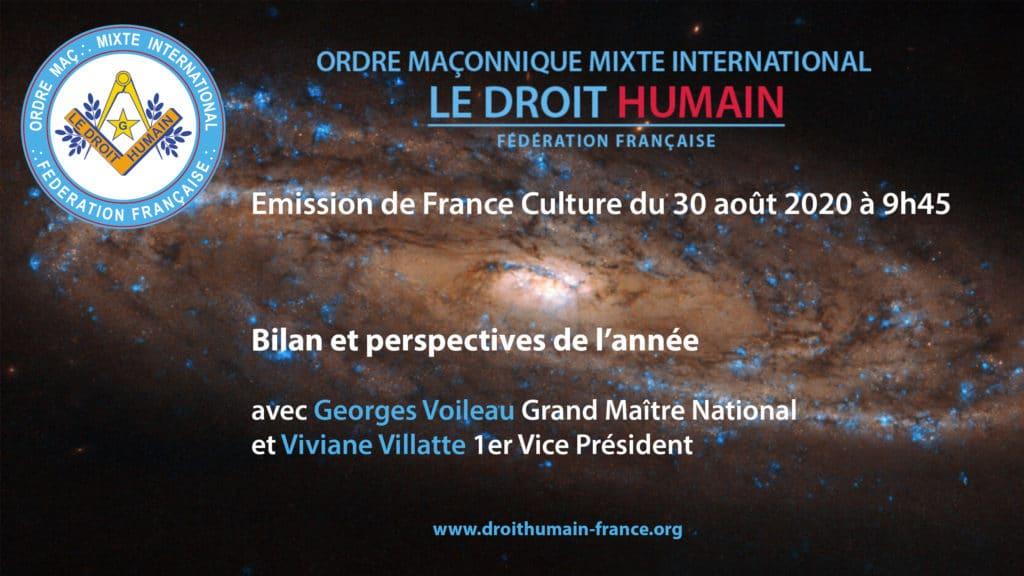 Emission de France Culture du 30 août 2020 à 9h45
