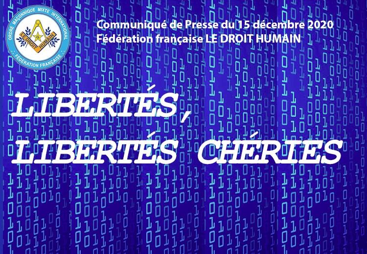 Communiqué de Presse du 15 décembre 2020 - Libertés, Libertés chéries