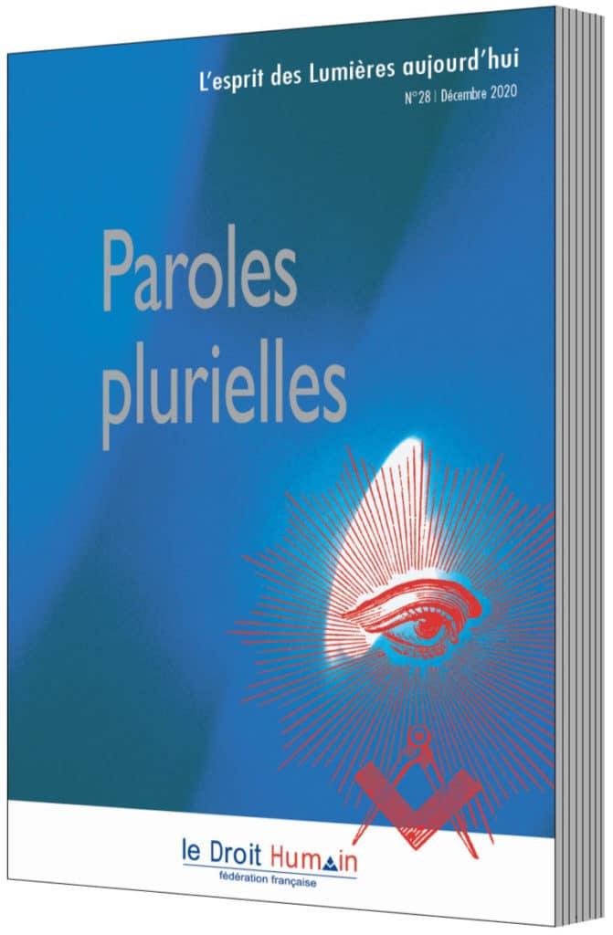 Paroles Plurielles, la revue philosophique et symbolique de la Fédération française LE DROIT HUMAIN