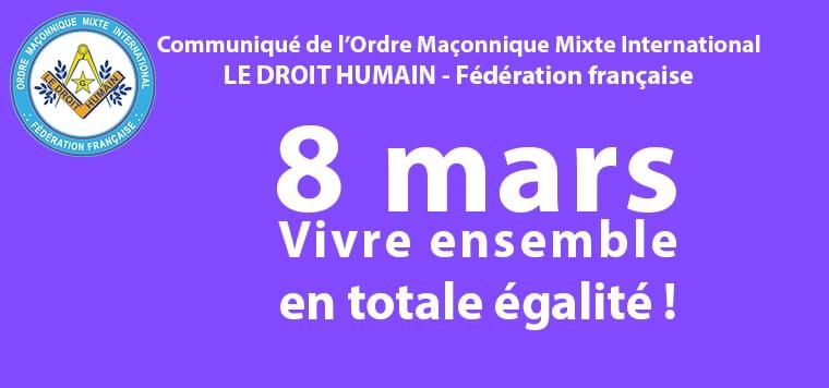 Communiqué pour la Journée internationale des Droits des Femmes - 8 mars 2021