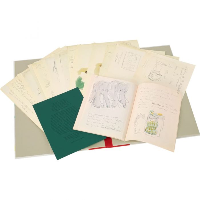 The limitation certificate, maquette and 61 loose-leaf sketches