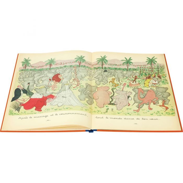 Celebrating the marriage and coronation of Babar and Céleste