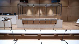 Une salle d'audience du palais de justice de Paris, photographiée en mars 2018. (CHRISTOPHE ARCHAMBAULT / AFP)