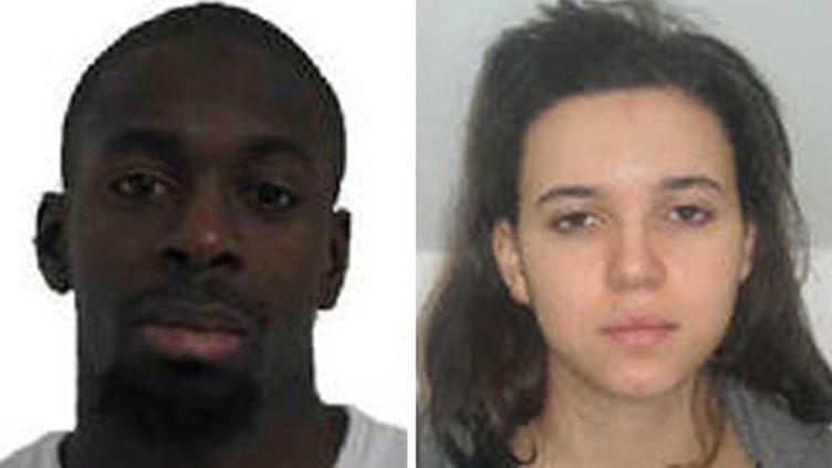 (Photos de l'avis d'appel à témoins qui avait été lancé par la police pour retrouver Amedy Coulibaly et sa compagne Hayat Boumeddiene © Maxppp)